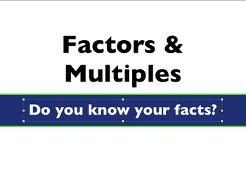 Factors & Multiples