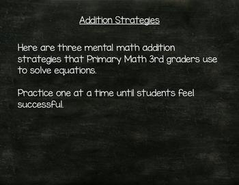 Singapore Math Addition Strategies