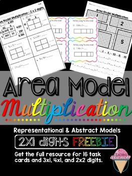 Singapore Math Area Model Multiplication SAMPLE