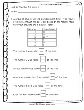 Singapore Math Grade 4 (Standards Ed.) Unit 10 Review