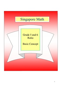 Singapore Math - Grade 5 and 6 Basic Concept of Ratio