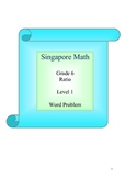 Singapore Math - Grade 6 Ratio level 1
