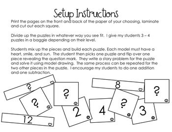 Singapore Math: Model Drawing Puzzle