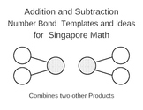 Singapore Math - Number Bond Addition/Subtraction Templates and Ideas