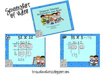 Singapore Math Video Tutorial: Area Model of Multiplication