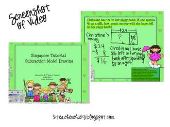 Singapore Math Video Tutorial: Subtraction Model Drawing