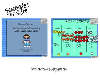 Singapore Math Video Tutorial: Subtraction with Trading (borrowing)