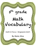 Singapore Math Vocabulary & Definitions - 5th grade