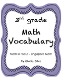 Singapore Math Vocabulary & Definitions - 3rd grade