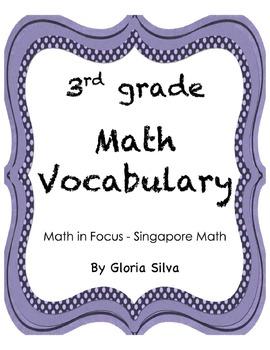 Singapore Math Vocabulary & Definitions - 3rd grade