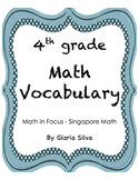 Singapore Math Vocabulary & Definitions - 4th grade