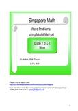 Singapore Math Word Problem - Grade 2, 3 Mass