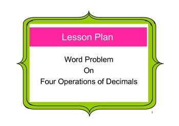 Singapore Math Word Problem - Grade 4 Four operations of Decimals