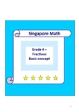Singapore Math Word Problem - Grade 4 Fraction Basic concept