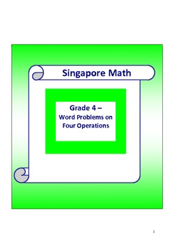 Singapore Math Word Problem - Grade 4 Which four operations to use