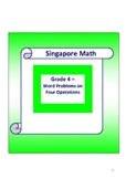 Singapore Math Word Problem - Grade 4 Which four operation