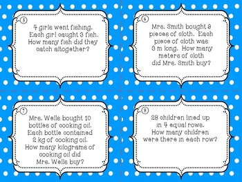 Singapore Math Word Problem Task Cards for Grade 2