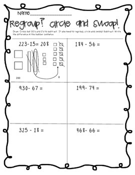 Singapore Math in Focus: Subtraction with Regrouping Pictorial