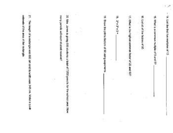 Singapore / Primary Mathematics Grade 5 Unit 1 Practice Test Review