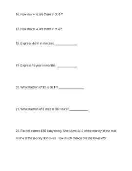 Singapore / Primary Mathematics Grade 5 Unit 3 Practice Test Review