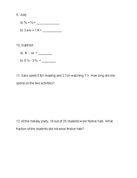 Singapore / Primary Mathematics Grade 5 Unit 3 Practice Test Review and Key