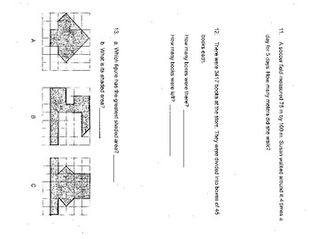 Singapore / Primary Mathematics Grade 5 Unit 5 Practice Test Review with Key