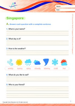 Singapore: Richard Lives in Singapore (with 'Triple-Track Writing Lines')