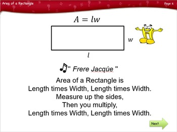 Area of a Rectangle Lesson by Singin' & Signin'