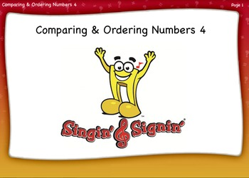 Comparing and Ordering Numbers Lesson 4 Fourth Grade by Singin' & Signin'