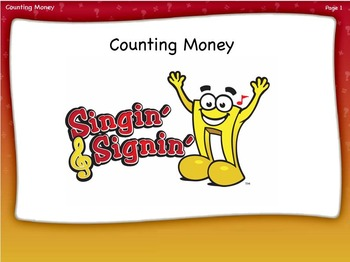 Counting Money Lesson by Singin' & Signin'