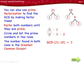 Greatest Common Divisor/Factor lesson by Singin' & Signin'