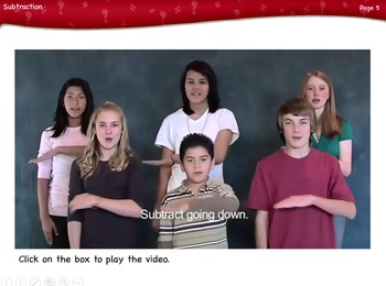 Subtraction Lesson by Singin' & Signin'