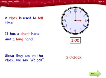 Telling Time Part 1 Lesson 1st & 2nd grade by Singin' & Signin'