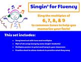 Singin' for Fluency: Multiplication Songs- Multiples of 6, 7, 8, & 9