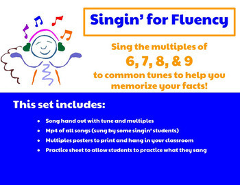 Singin' for Fluency: Multiplication Songs- Multiples of 6,