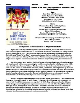 Singin' in the Rain Film (1952) Study Guide Movie Packet