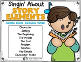 Singing About {Story Elements} ELA Common Core Reading for Kinder & First Grade