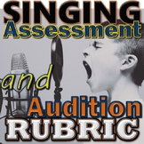 Singing Assessment Audition Rubric - Printable Elementary Music Portfolio Grades