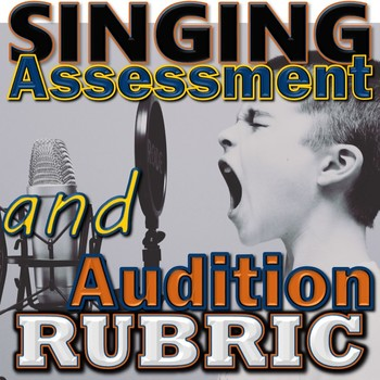 Singing Assessment Audition Rubric - Elementary Music - PDF Printable