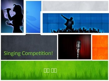 Singing Competition PowerPoint