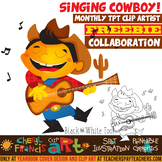 Singing Cowboy Clip Art
