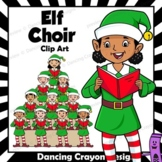 Singing Elves | Caroling Choir Clip Art