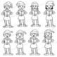 Singing Elves | Caroling Choir Clip Art