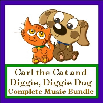 "Complete Singing Game Bundle ""Carl the Cat and Diggie Digg"