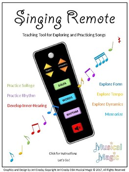 Singing Remote - Engaging Tool for Exploring Rhythm, Solfege, Elements