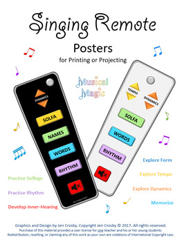 Singing Remote Posters -Explore Melody, Solfege, Rhythm, Form and Song Elements