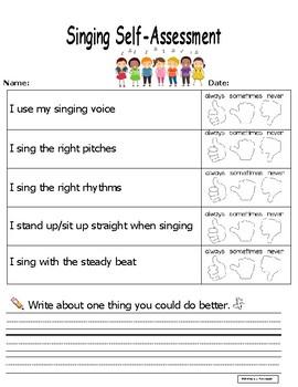 Singing Self-Assessment