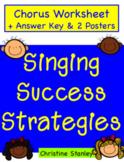 Chorus Singing Success Strategies Worksheet  ♫ (Plus posters)