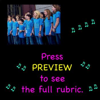 Chorus Rubric ♫  Singing Test ♫