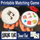 """Singing Time Matching Game SHOUT OUT; 31 3"""" cards,  31 singing ideas; Spot Match"""